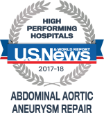 High Performing Hospitals Abdominal Aortic Aneurysm Repair Icon - 2017-2018