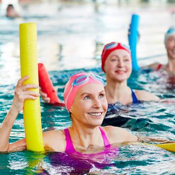 Women in water aerobics