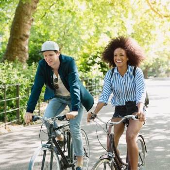 Washington couple biking